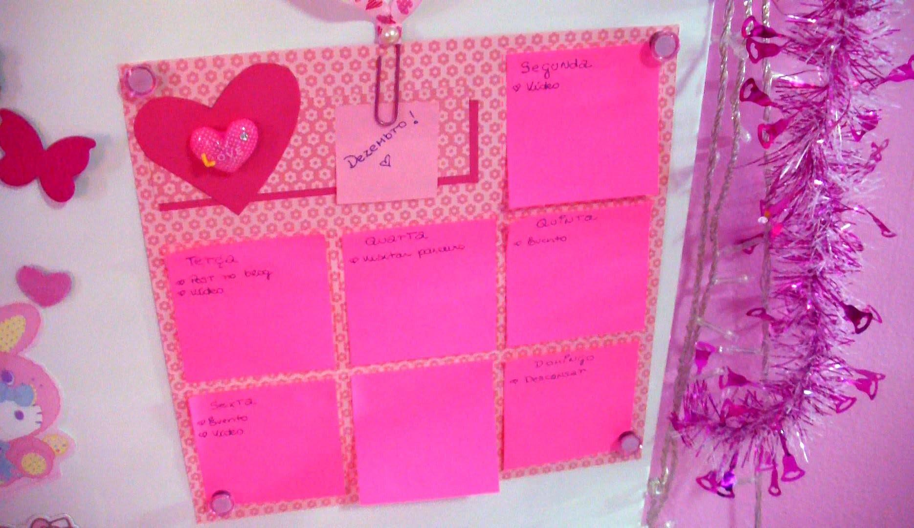 DIY: Como fazer um calendário semanal ♡ Volta as aulas - Faça você mesma #EspecialFimdeAno