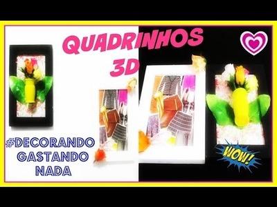 DIY #:FAÇA VC MESMA(1 PARTE DECOR CASA) QUADRINHOS 3D