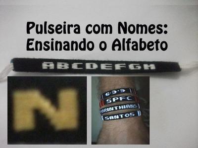DIY Pulseira com nome - Letra N