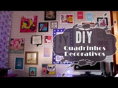 DIY: Quadros Decorativos Baratinhos #decorandoquarto2