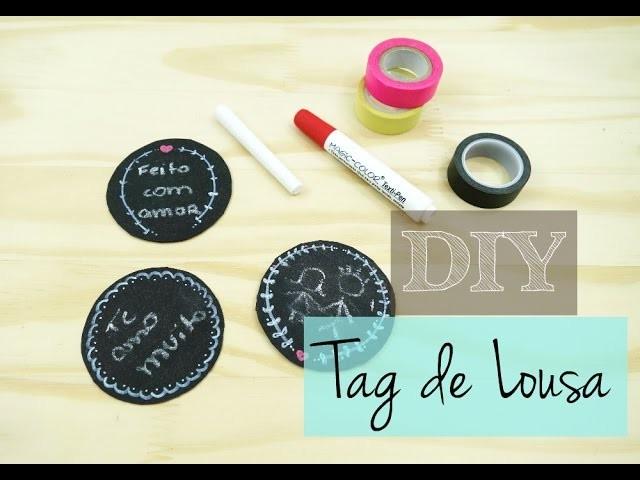 DIY:  Tag de lousa (Chalkboard)