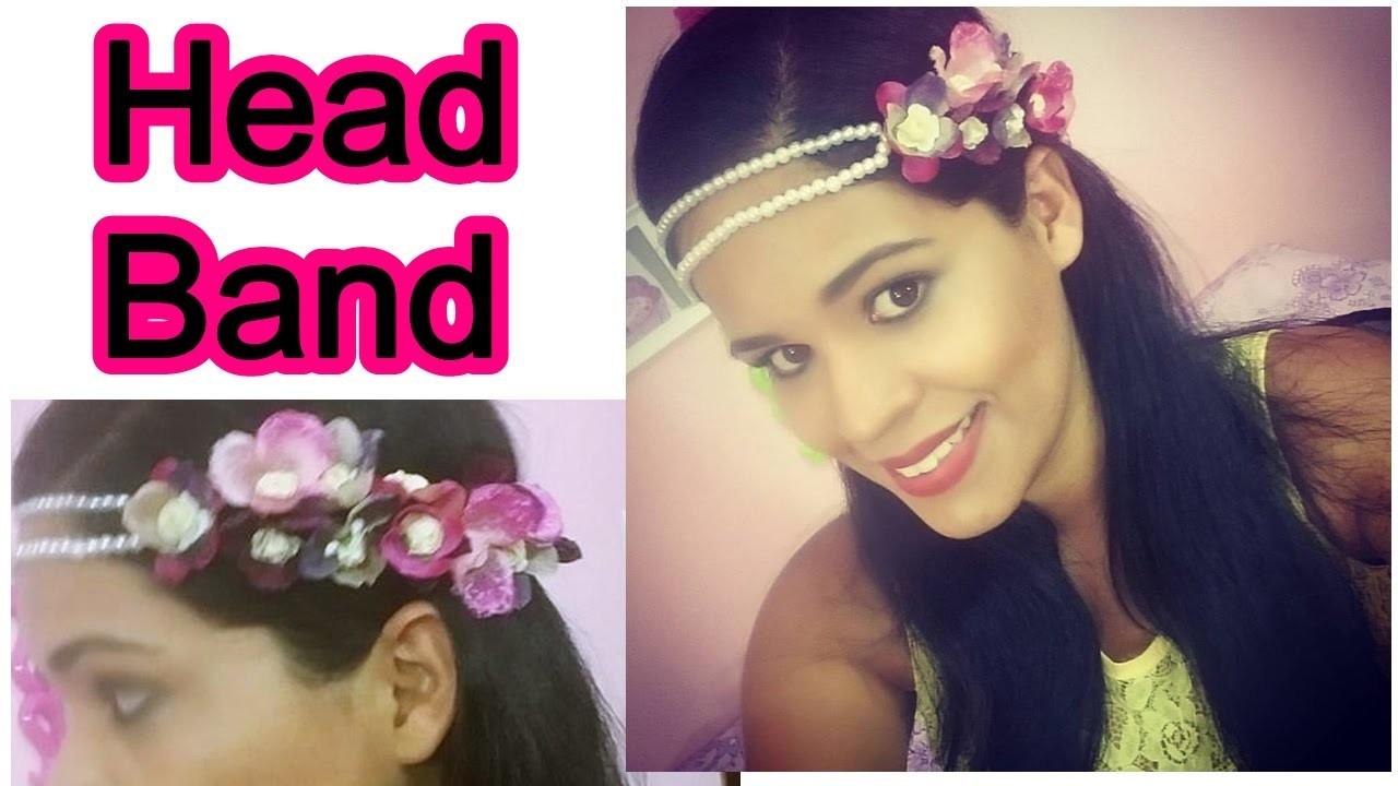 DIY | Tiara de flores com pérolas | Head Band.