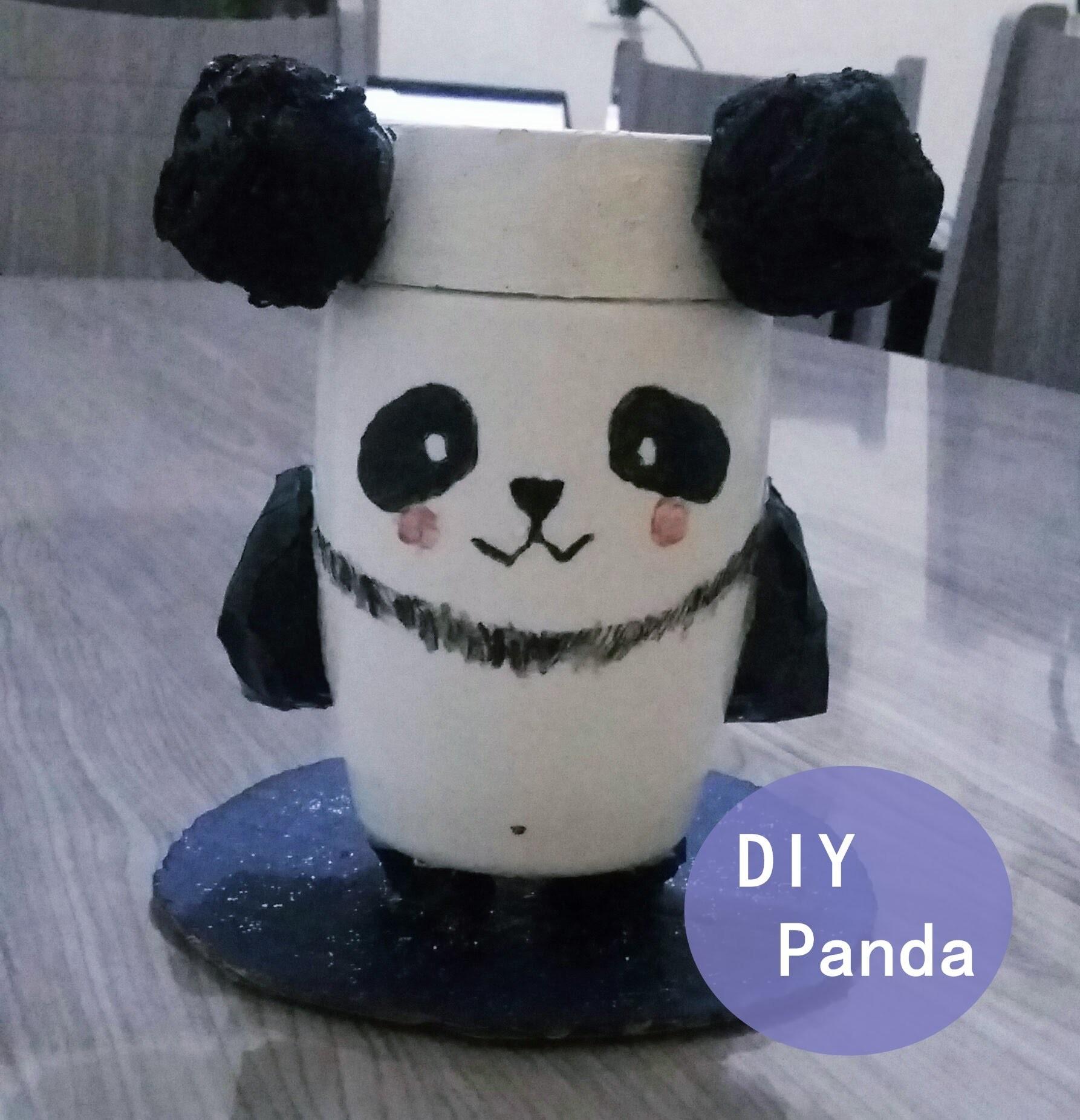 DIY: Urso Panda Enfeite.  Panda Bear Ornament