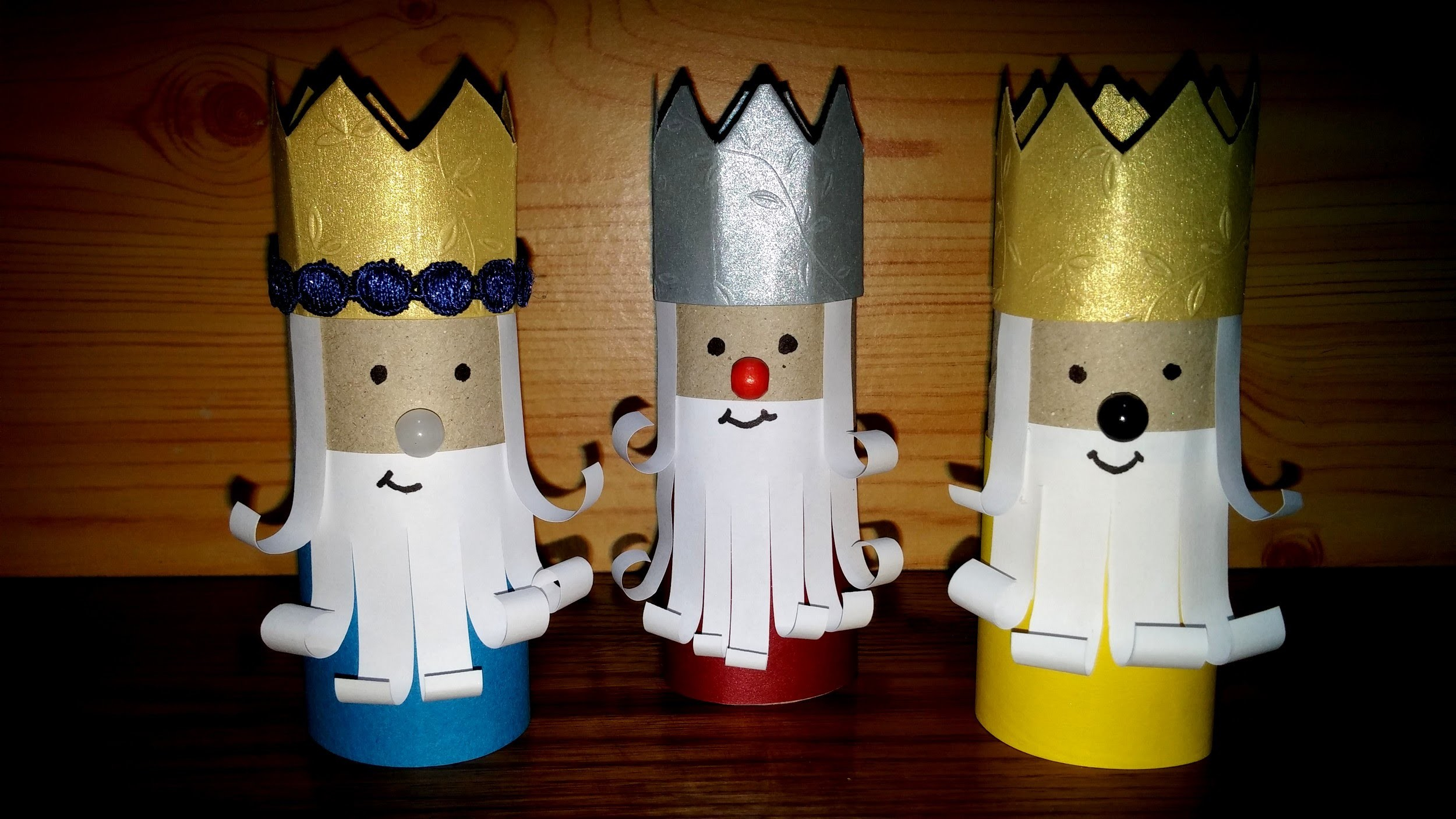 Como fazer os três reis magos - DIY - How to make the Christmas Three Kings