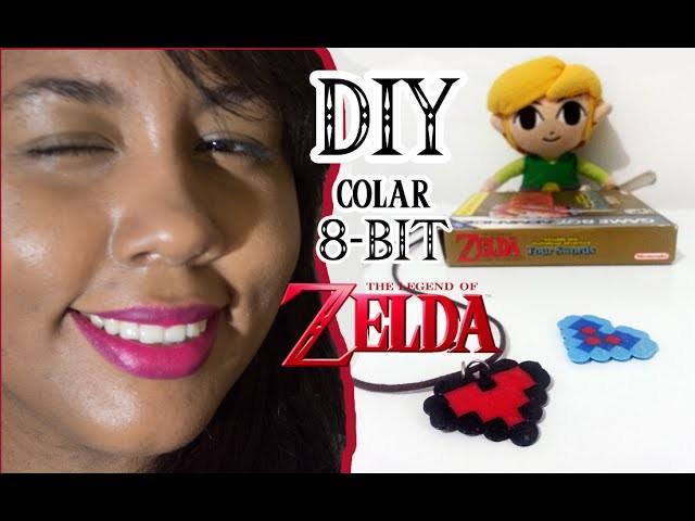 DIY: COLAR DE 8-BIT! Heart e Piece of Heart do Link - THE LEGEND OF ZELDA | Garota VintaGeek