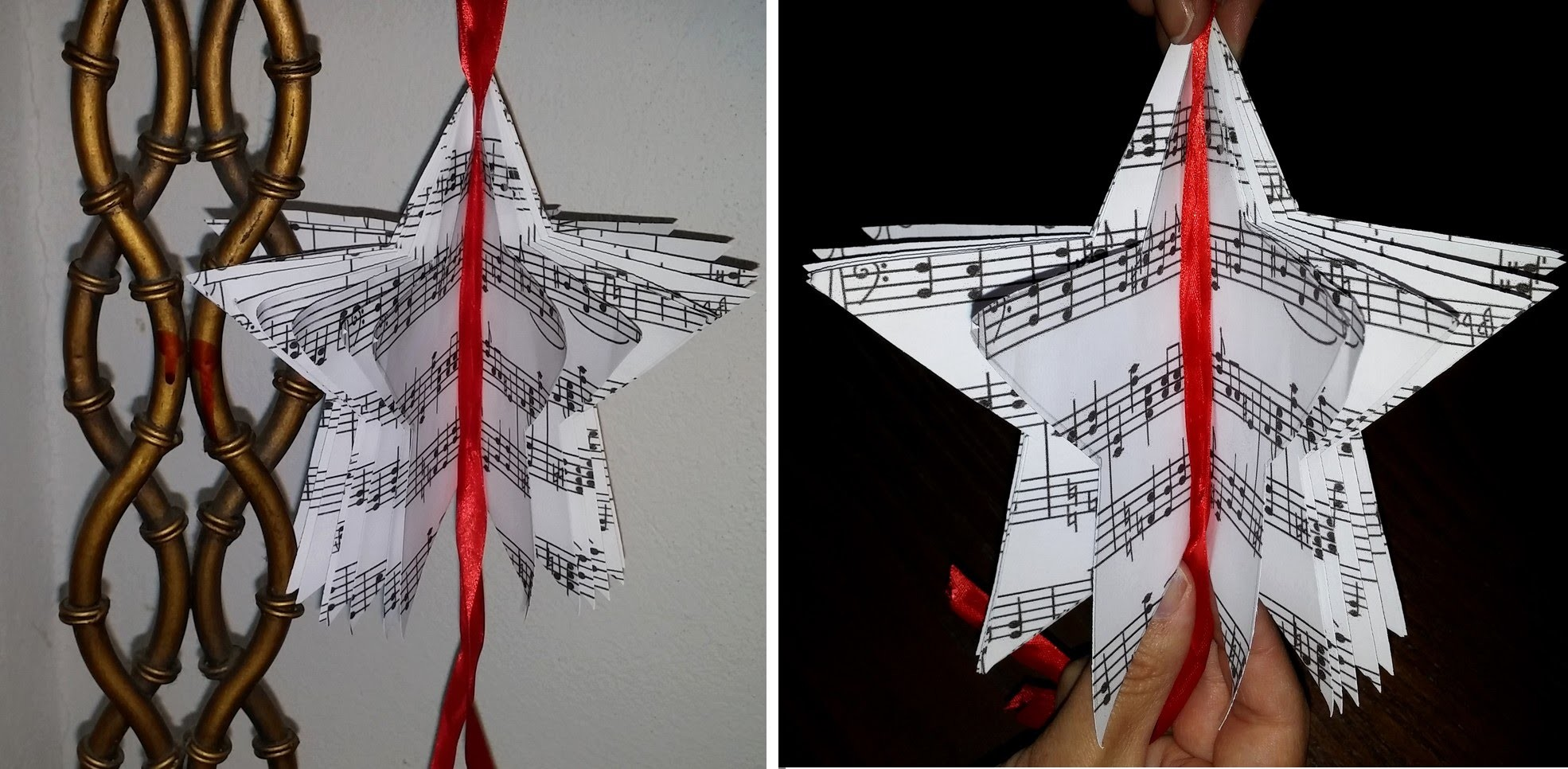 Estrela de Natal com papel reciclável - DIY - Christmas star made of paper
