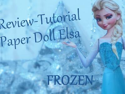 REVIEW TUTORIAL FROZEN Paper Doll da Elsa - Lojas Marisa