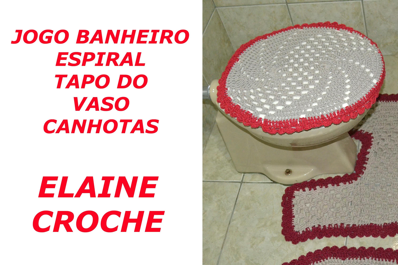 CROCHE PARA CANHOTOS - LEFT HANDED CROCHET - JOGO BANHEIRO ESPIRAL CROCHÊ - TAMPO VASO