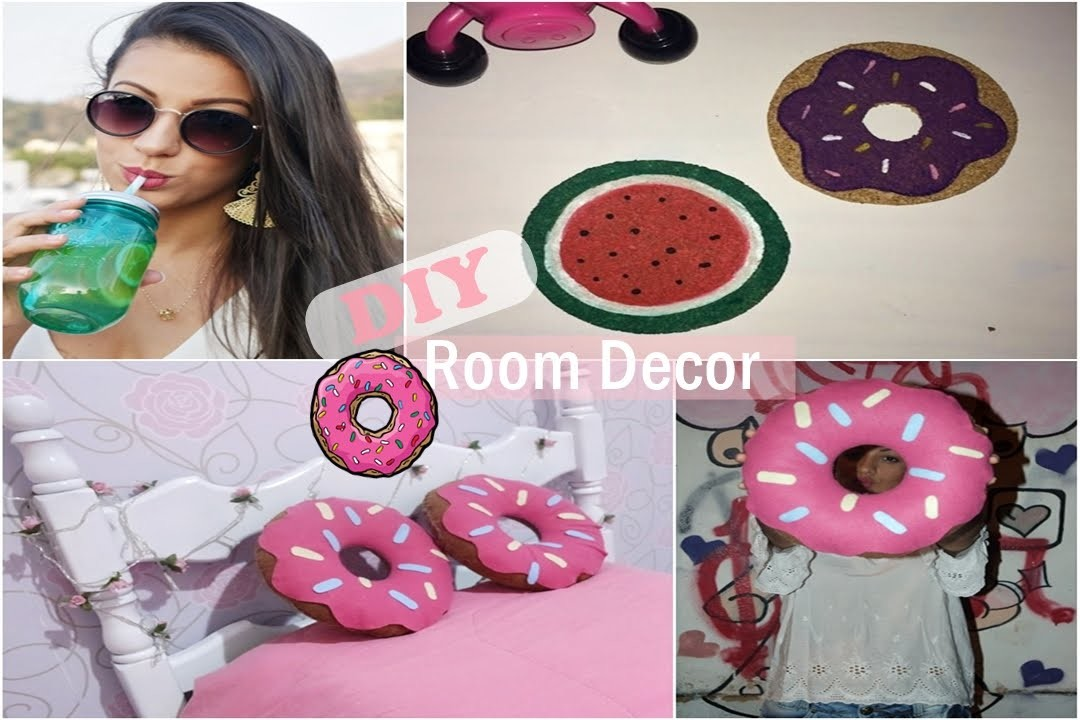 DIY: Decoração para quarto | DIY Room Decor! Tumblr Inspired Room Decorations!