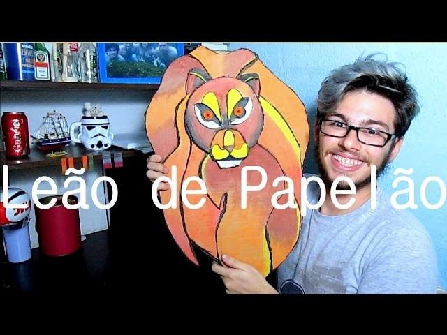 DIY: Troféu de caça - Leão de papelão