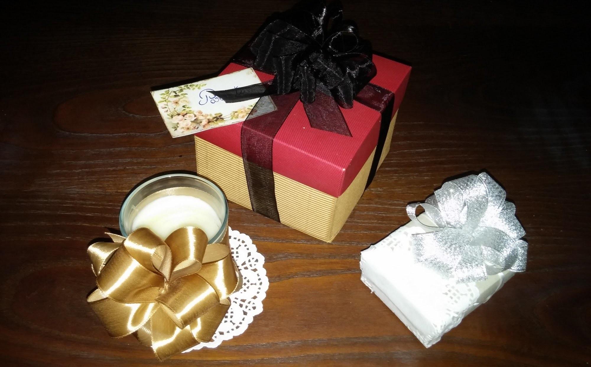 Laço de fita para presente - DIY - Ribbon bow for gifts