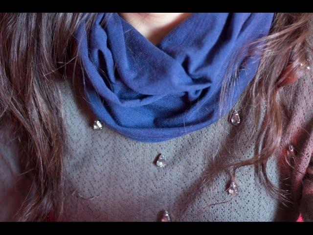 DIY | Como fazer cachecol com apenas uma camisa!