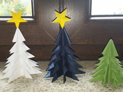 Arvore de Natal em 3D - DIY - 3D Christmas tree