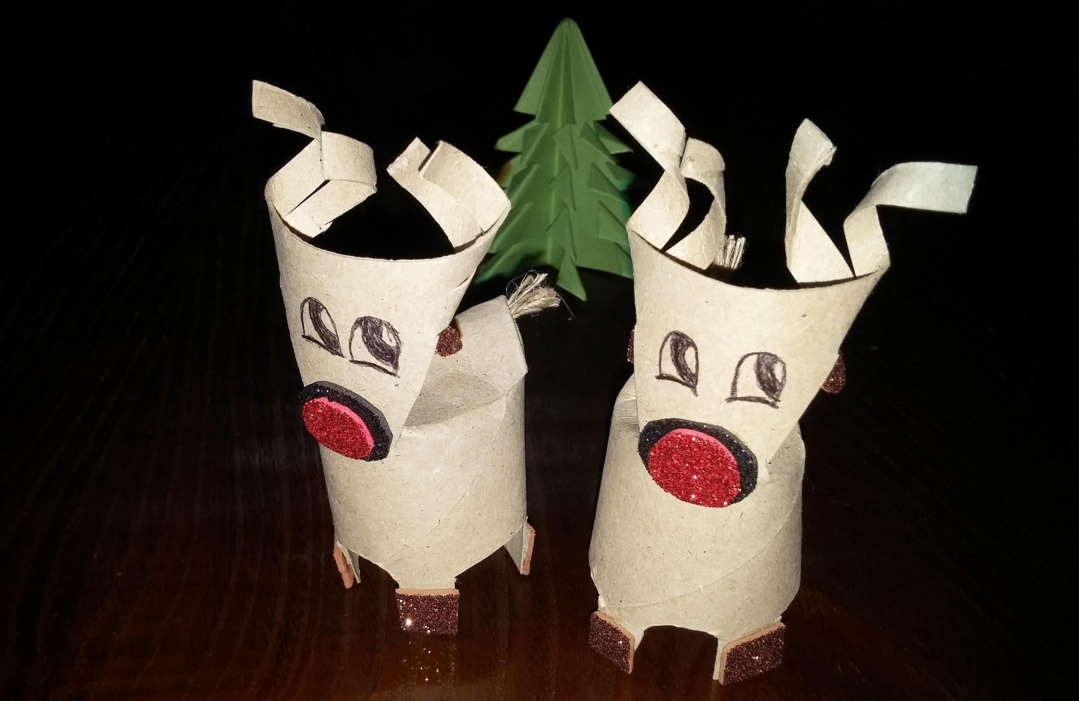 Como fazer rena de Natal - DIY - How to make a Christmas reindeer