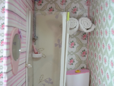 DIY: Como fazer um banheiro box para a boneca Barbie ♥