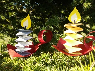 Como fazer enfeites de Natal com velas - DIY - Christmas decorations candles