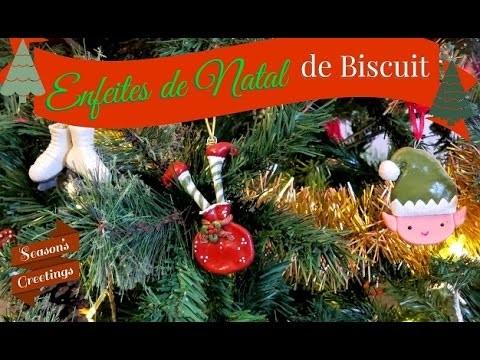Enfeite de natal de biscuit D.I.Y. (christmas ornaments)   Fazendo Arte 38   #POCFazendoArte
