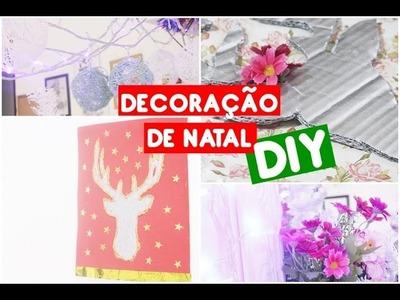 DIY: Decoração para o natal  | Holiday room decor Easy DIY Christmas