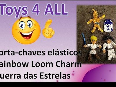 Porta chaves pulseiras elasticos rainbow loom charm bonecos 3d guerra das estrelas toys 4 all