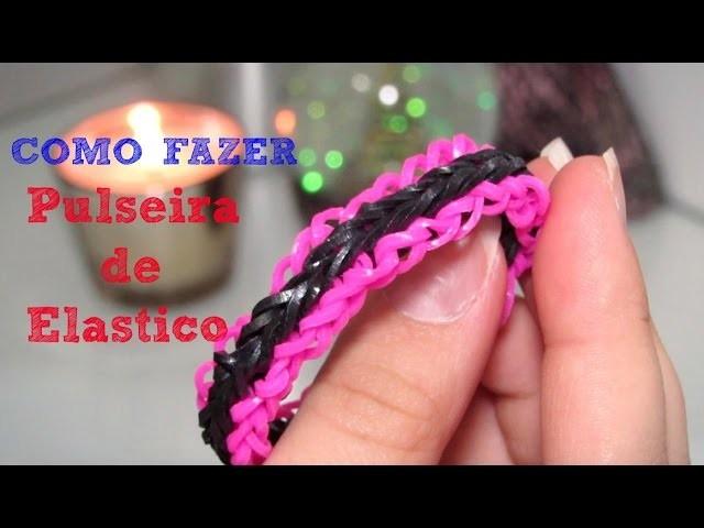 Rainbow Loom - Como fazer pulseiras de elástico: Triple Falsa (com Garfo )