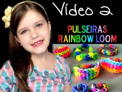 Como fazer pulseiras Rainbow Loom - Júlia Burini