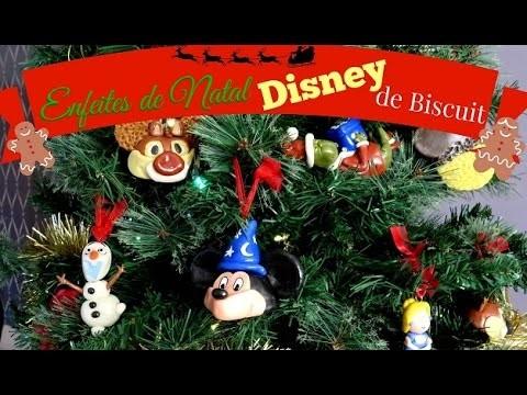 Enfeite de natal Disney de biscuit D.I.Y. (christmas ornaments) | Fazendo Arte 39 | #POCFazendoArte
