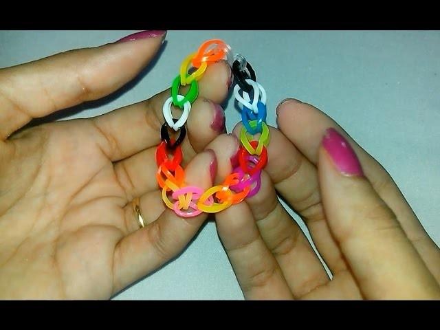Pulseiras de Elásticos - Rainbow Loom - Pulsera de Gomitas