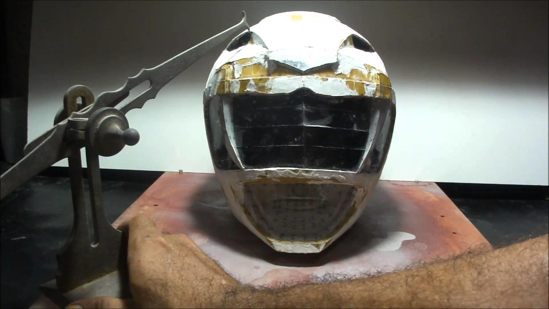 How do you make a POWER RANGER helmet - DIY - part 8