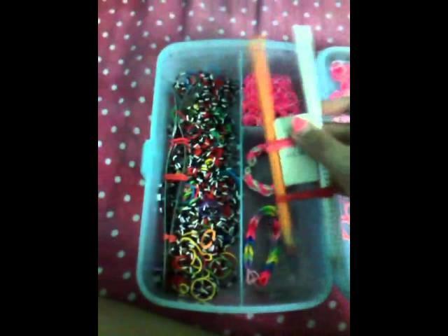 Minhas coisas de rainbow loom