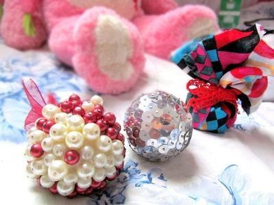 DIY: Como fazer bolinhas para arvore de natal. Como fazer decoração de natal