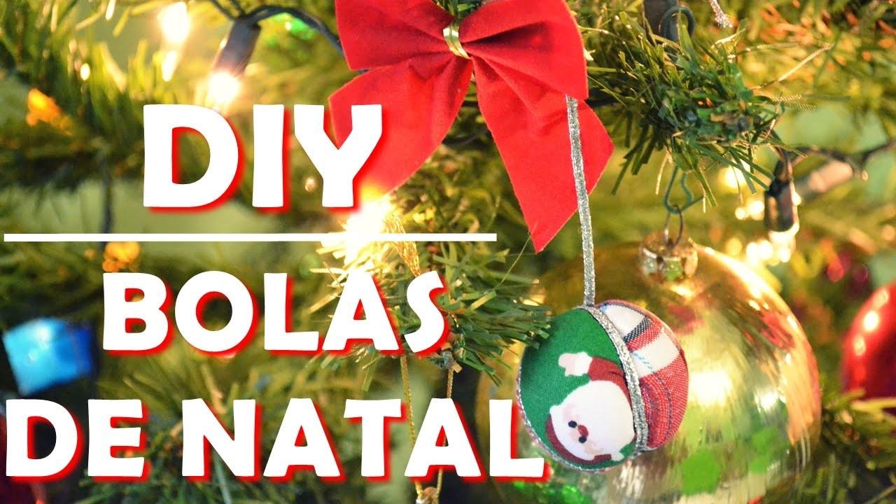 DIY | Decoração de Natal | Bolas de Isopor com Tecidos