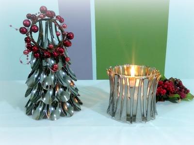DIY - Decoração Natal com Colheres de Plástico