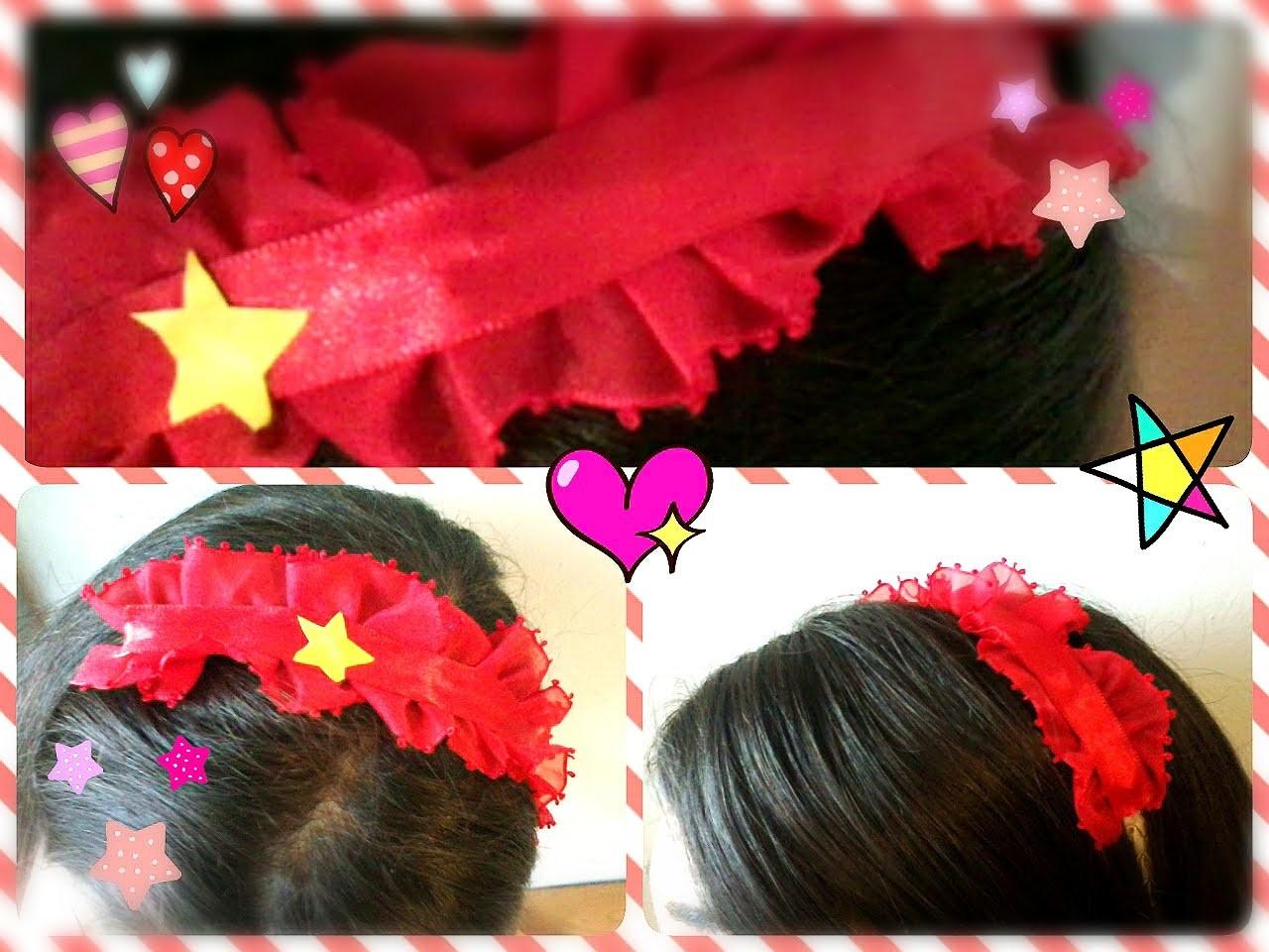 Especial Natal--DIY   Como fazer um tiara de lolita kawaii