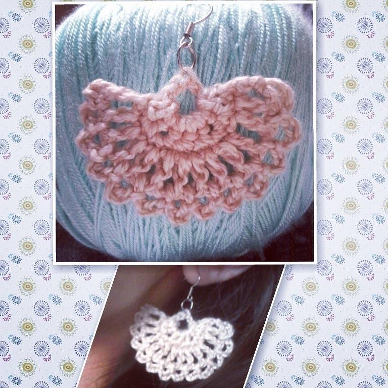 Pap Brincos de Croche super fácil. Crochet earrings pattern very easy