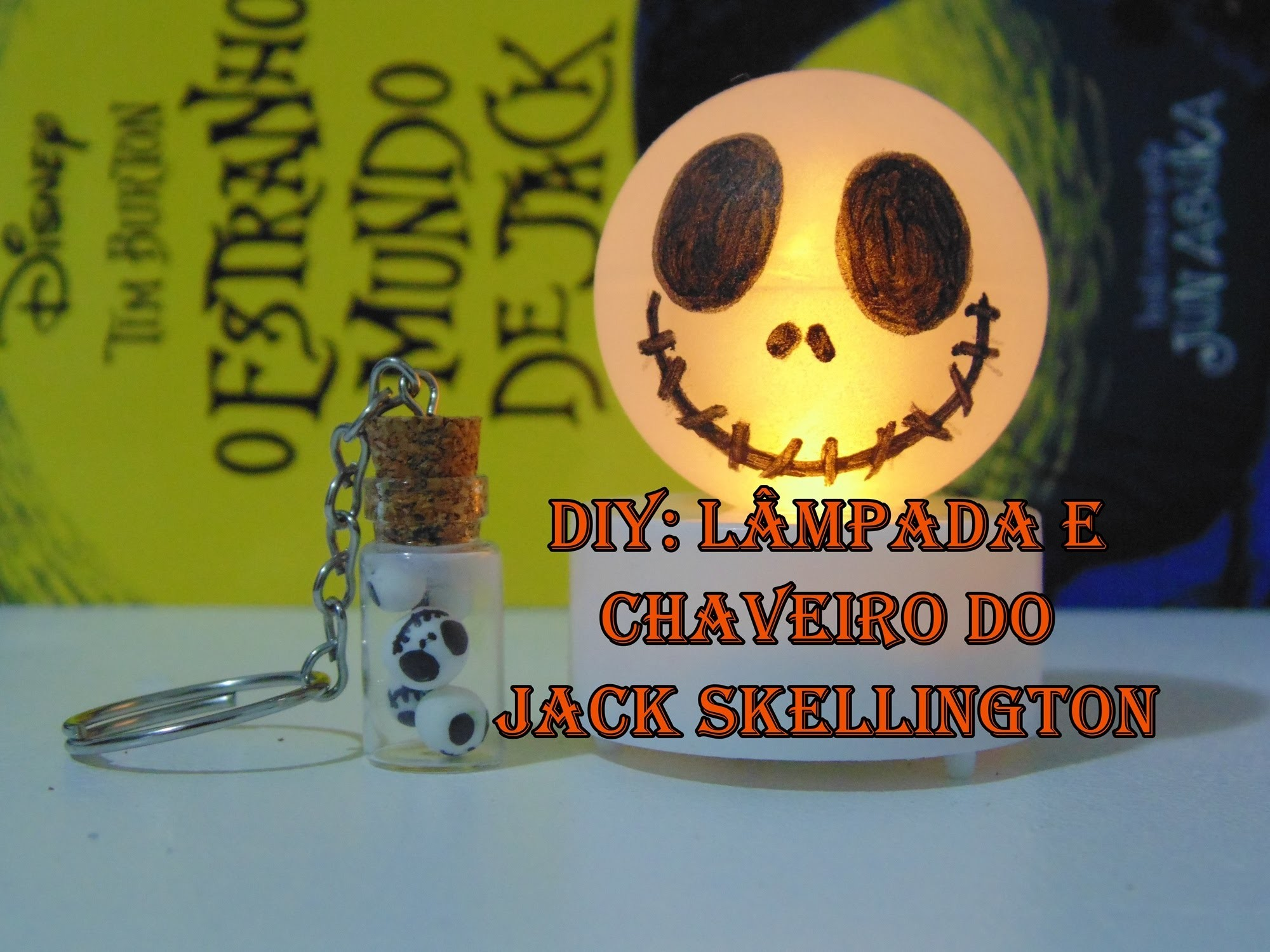 DIY Lampada e Potinho do Jack Skellington