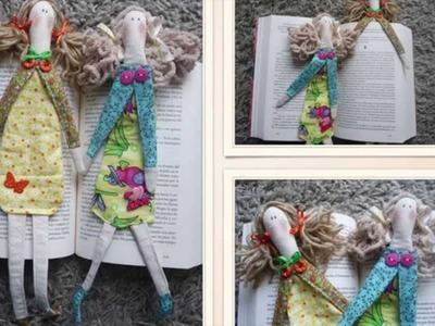 Marcador de páginas Tilda: DIY idéia #4 dia das Mães