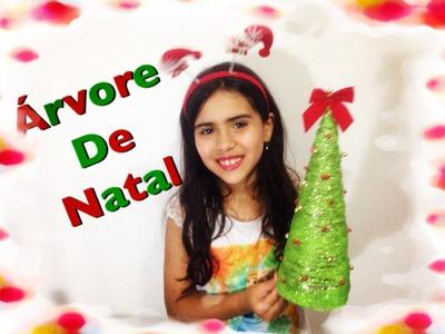 Como fazer Árvore de natal(fácil) - Artesanato infantil - Enfeites de Natal - DIY