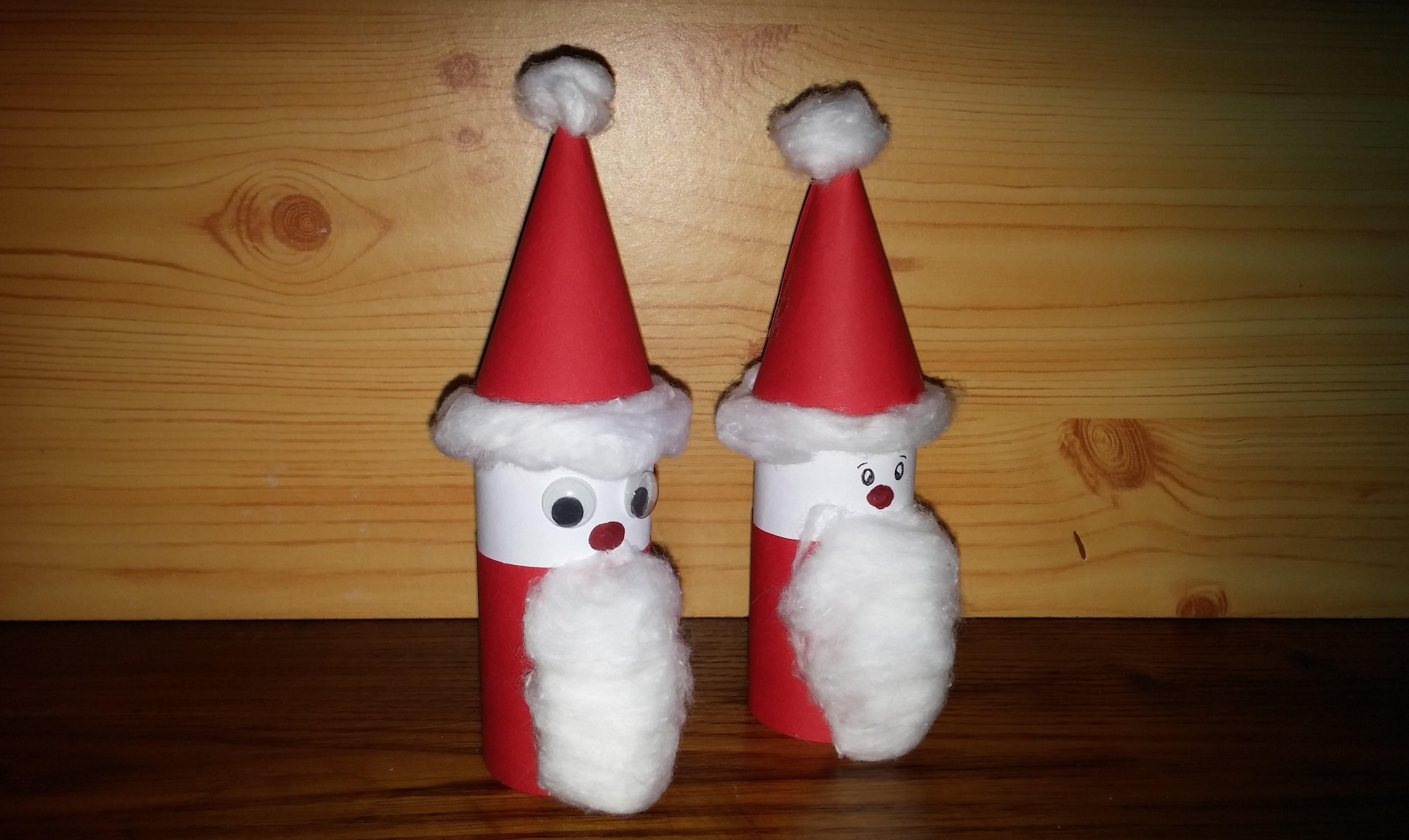 Pai Natal com material reciclado - DIY - How to make santa claus
