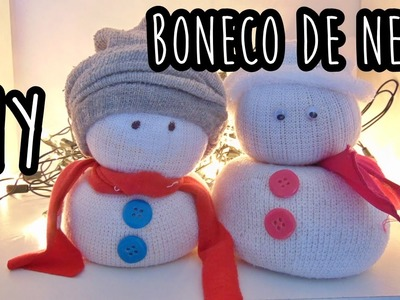 DIY BONECO DE NEVE DE MEIA #NATAL2015 | Ally Arruda
