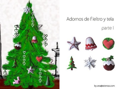 DIY Figuras de fieltro y tela para Navidad 1ªparte
