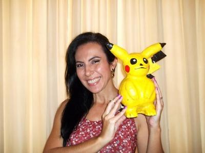 Artesanato: Escultura Pokemon de papel marche
