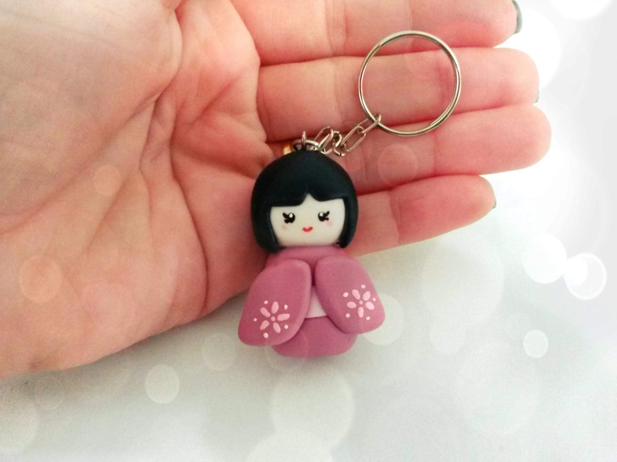 Como fazer boneca Kokeshi - Passo a Passo boneca japonesa em biscuit