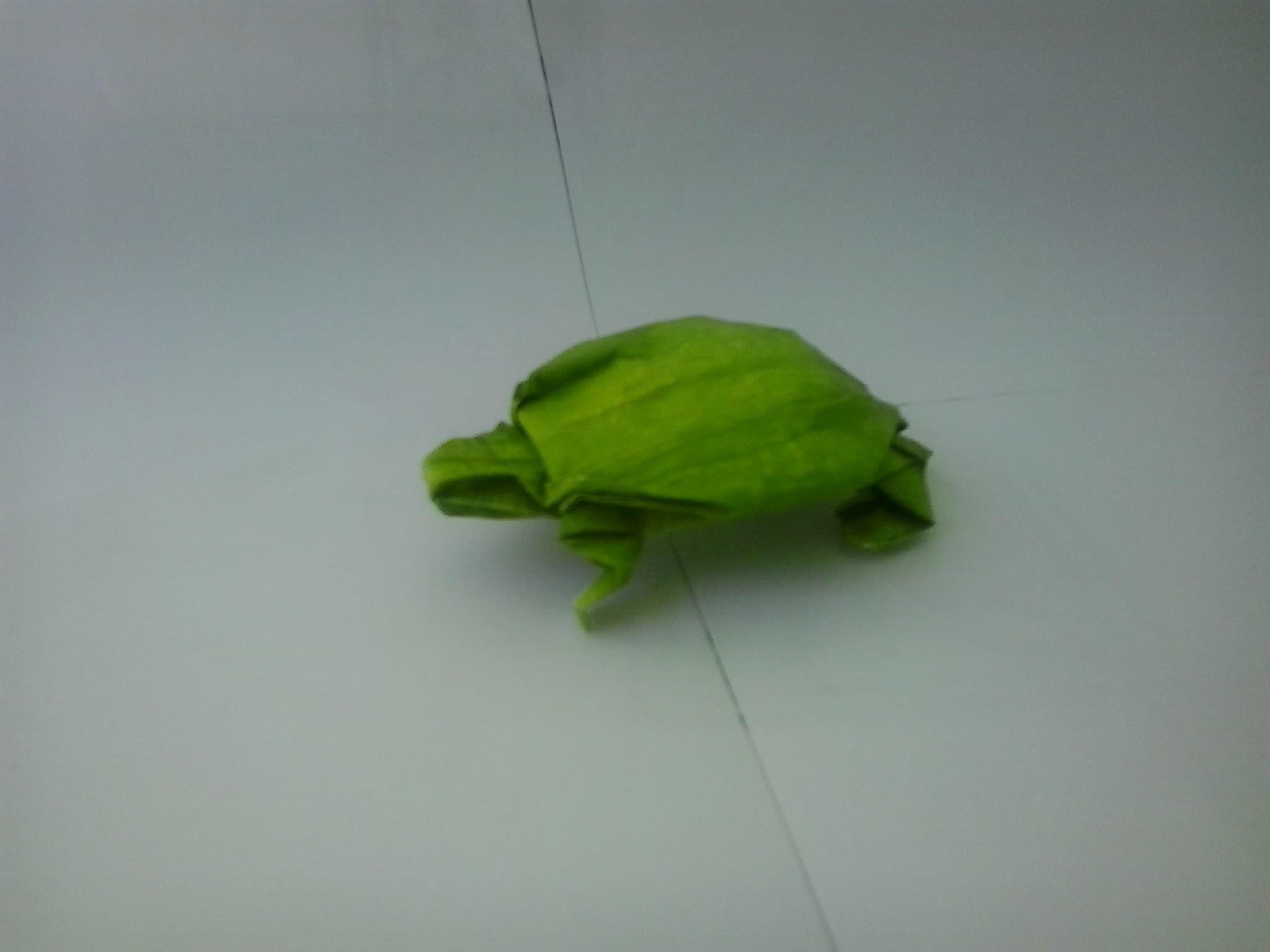 Como fazer um origami tartaruga (Robert J. Lang)