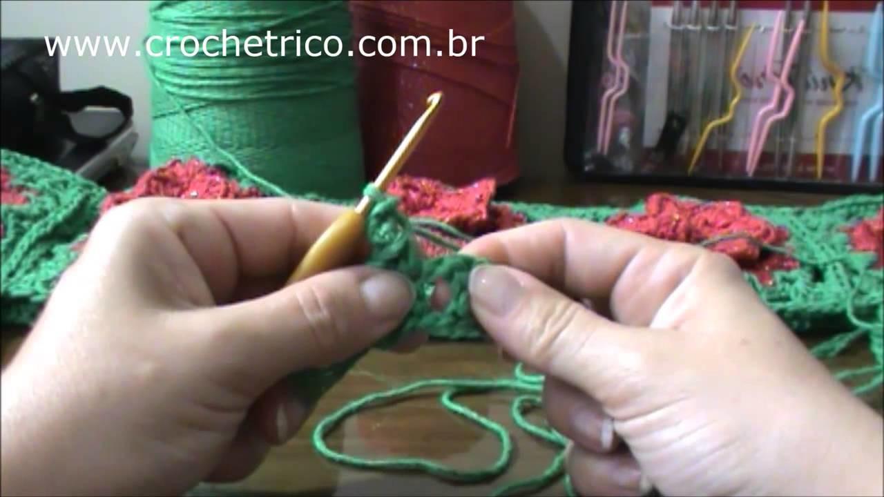 Crochê para Canhotas - Tapete Caminho de Flores - Parte 04.06