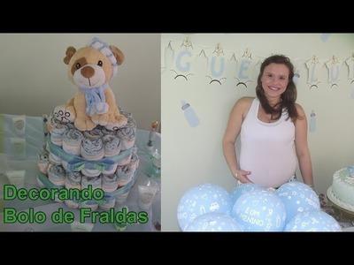 Decoração de Festas: Decorando bolo de fraldas