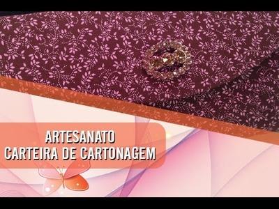 Dica de artesanato - Carteira de cartonagem (07.05.2014)