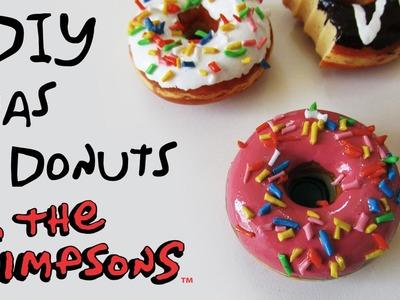 DIY: Como Fazer Imãs de Donuts ou Rosquinha Inspirado em Simpsons. Dunkin Donuts