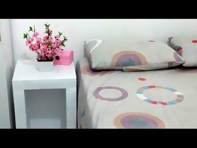 DIY.Faça você mesmo: criado-mudo de isopor gastando apenas R$ 30,00 - Bruna Leal