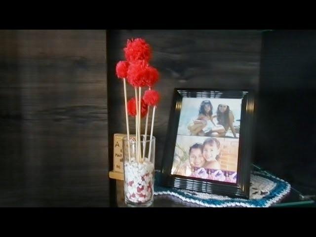 DIY: Vasinho Romântico Com Flores de Pompom