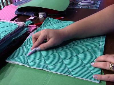 Mulher.com 22.01.2015 Bolsa em patchwork por Regina Heitor Parte 1